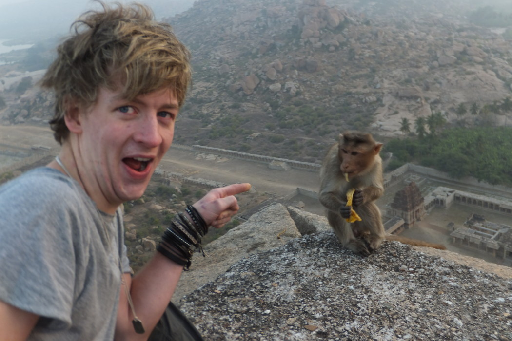 Broke Backpacker and brother in Hampi, India