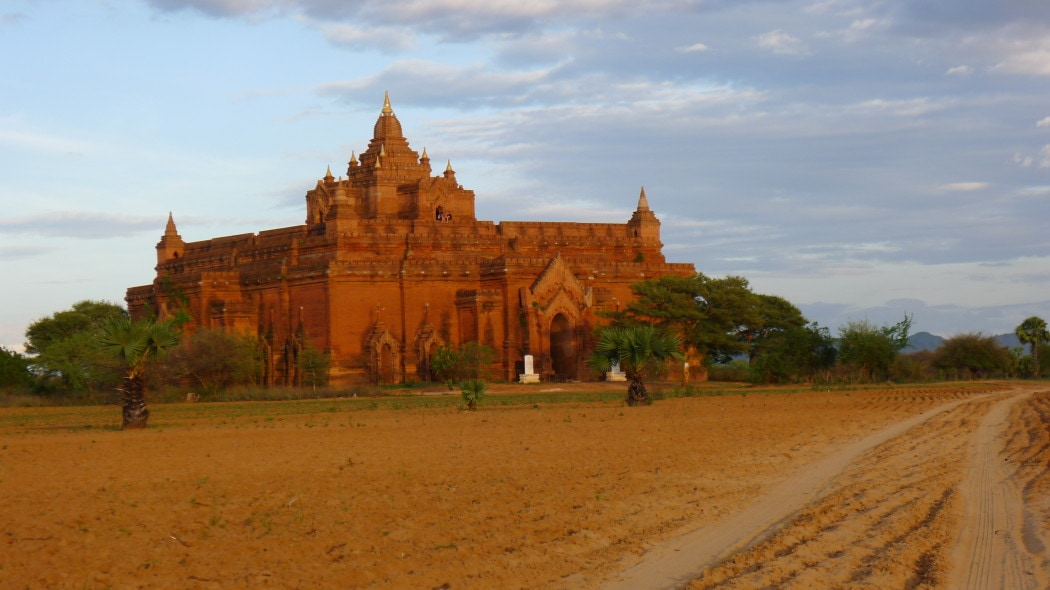 Temple strewn fields in Bagan Myanmar