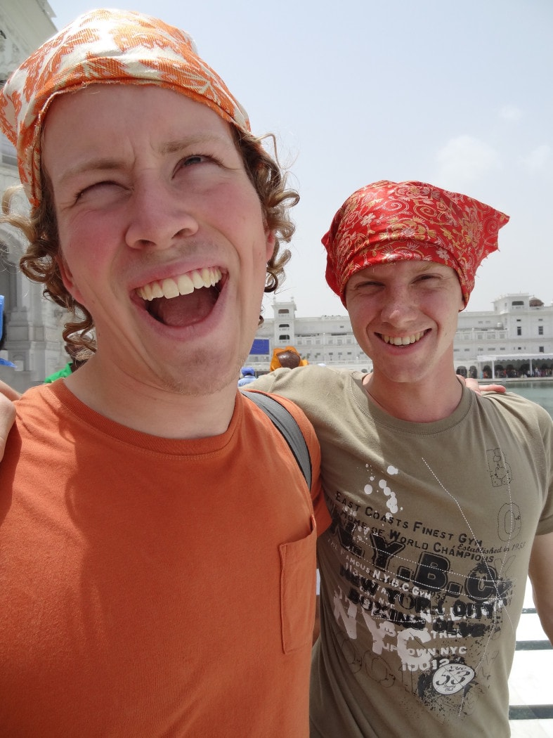 Finding a travel buddy in India by bring a couple friends from home