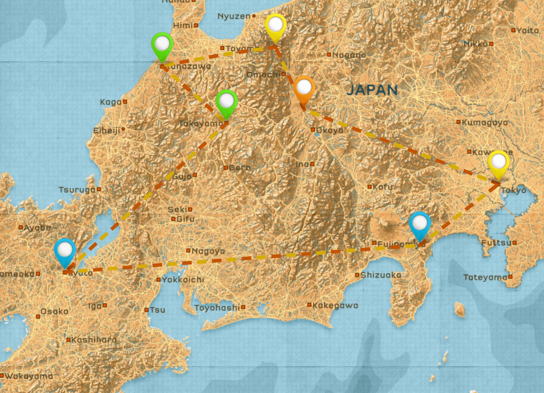 Japan Itinerary #1