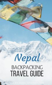 Nepal Backpacking Travel Guide PIN