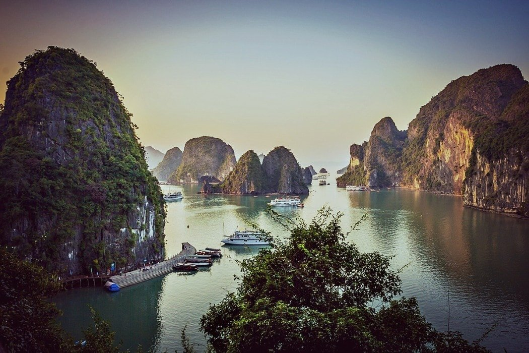 A still Halong Bay - One of my top highlights of backpacking in Vietnam