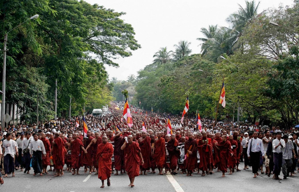 A political demonstration and protest in Myanmar