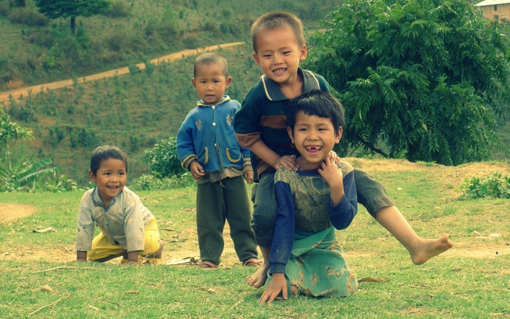 Local kids in Burma Myanmar