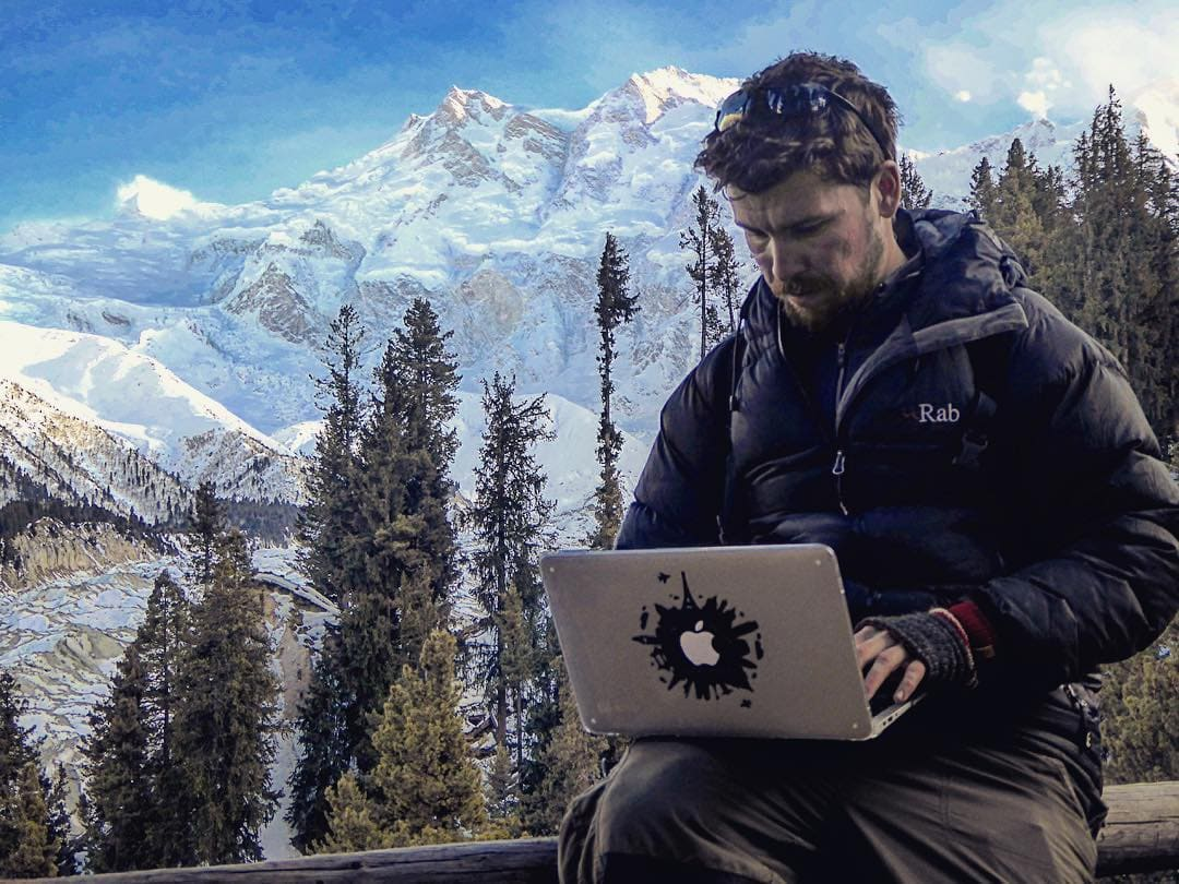 Will Hatton combining work and budget backpacking