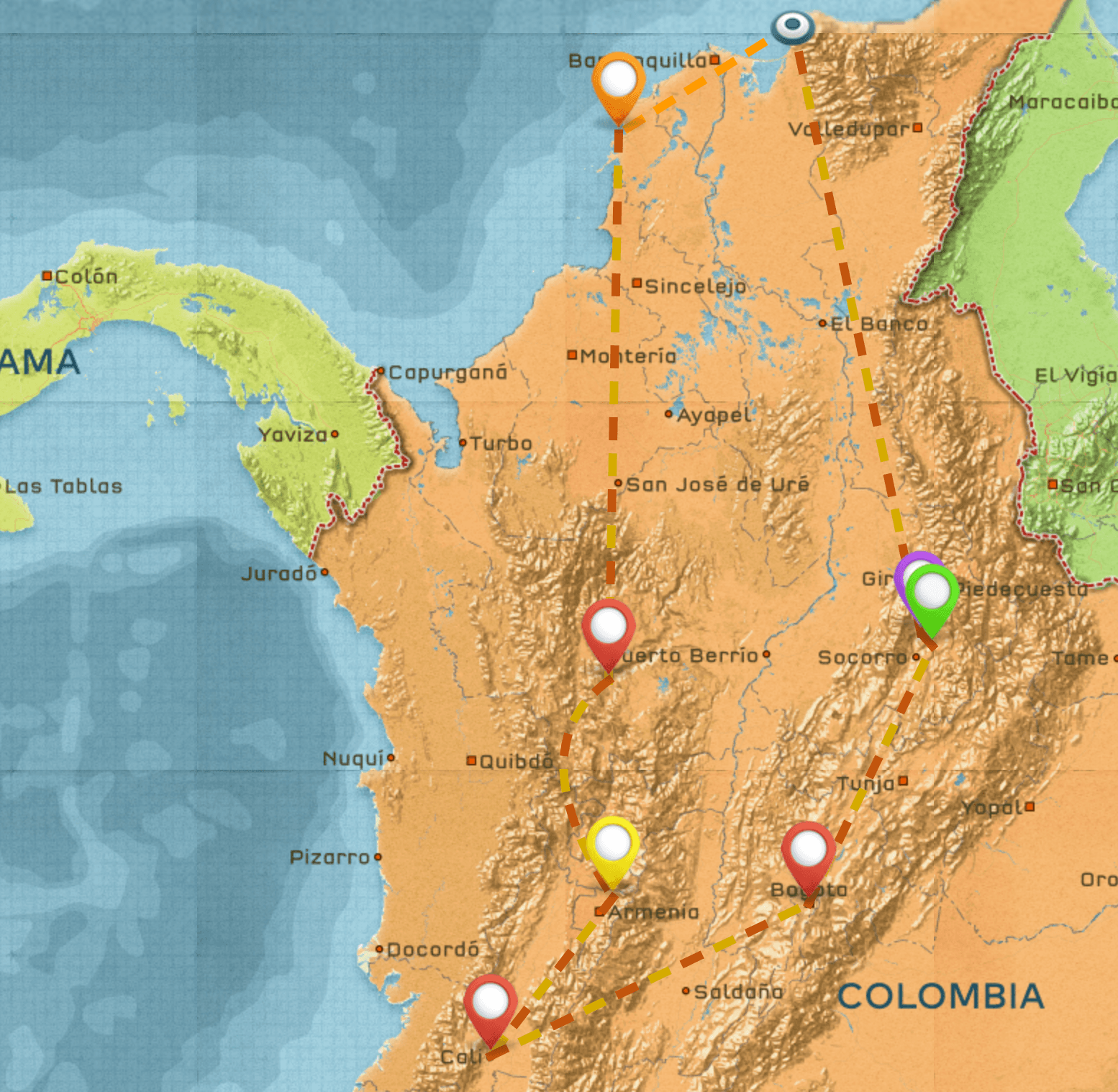 Colombia Itinerary #1