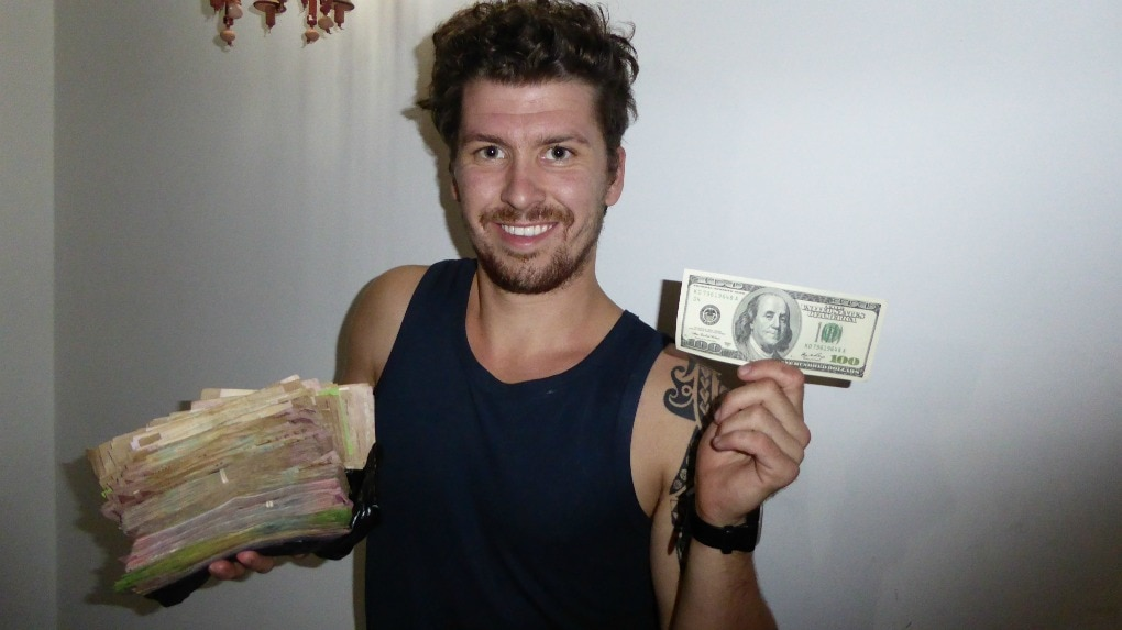 Travelling with a large amount of money in Venezuela