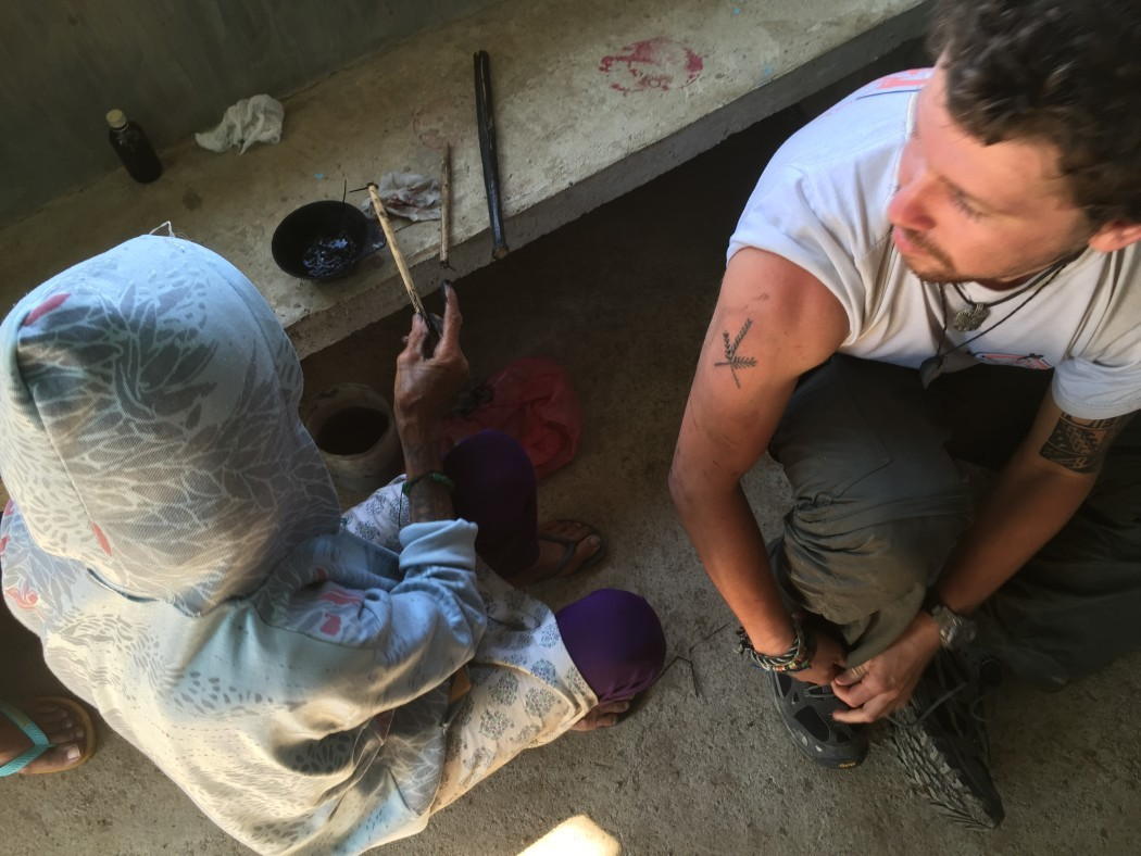 Whang Od tattoo artist with The Broke Backpacker