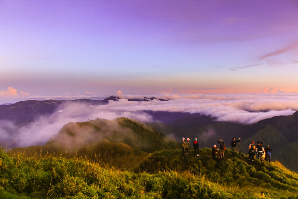 The morning view from Mount Pulag