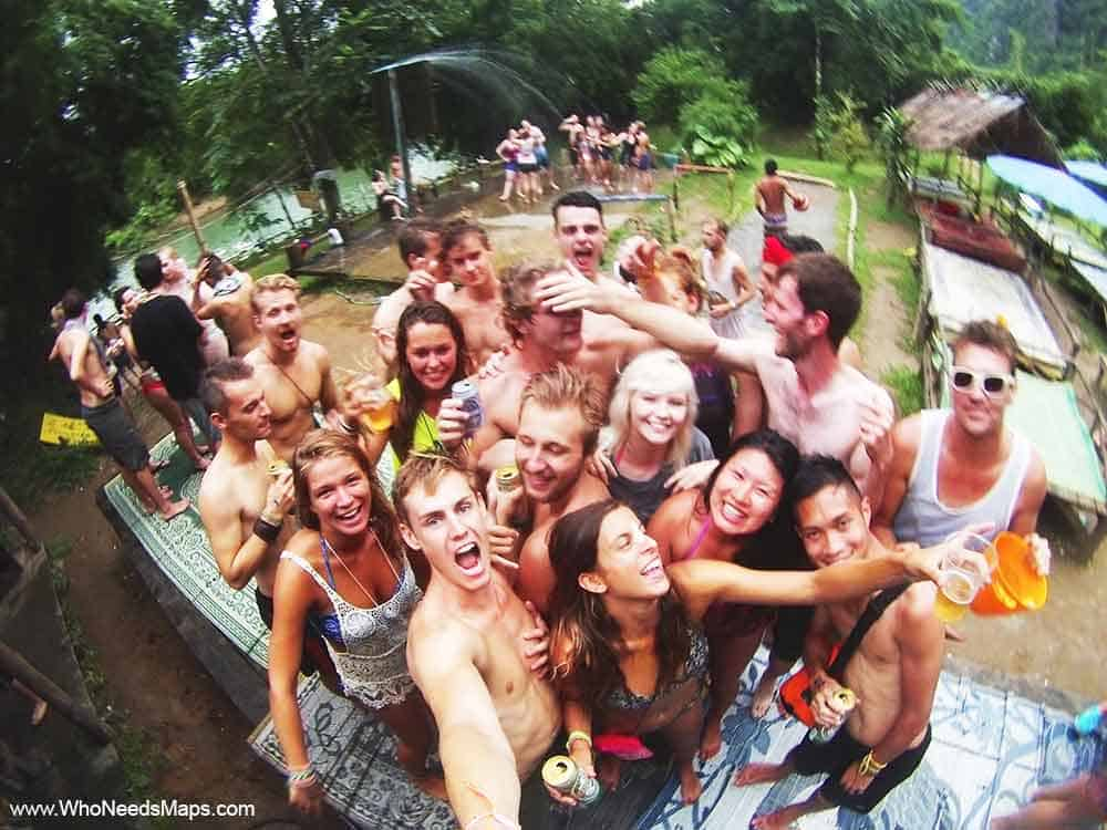 Who Needs Map Tubing Party Laos