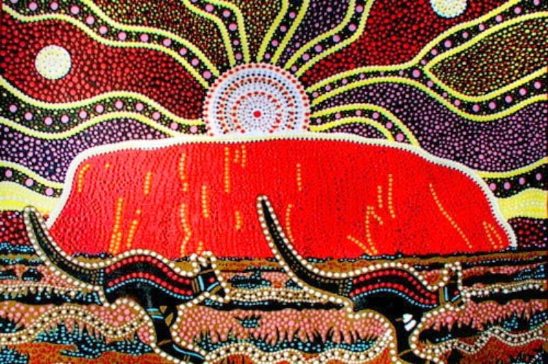 Traditional Australian Aboriginal dot art