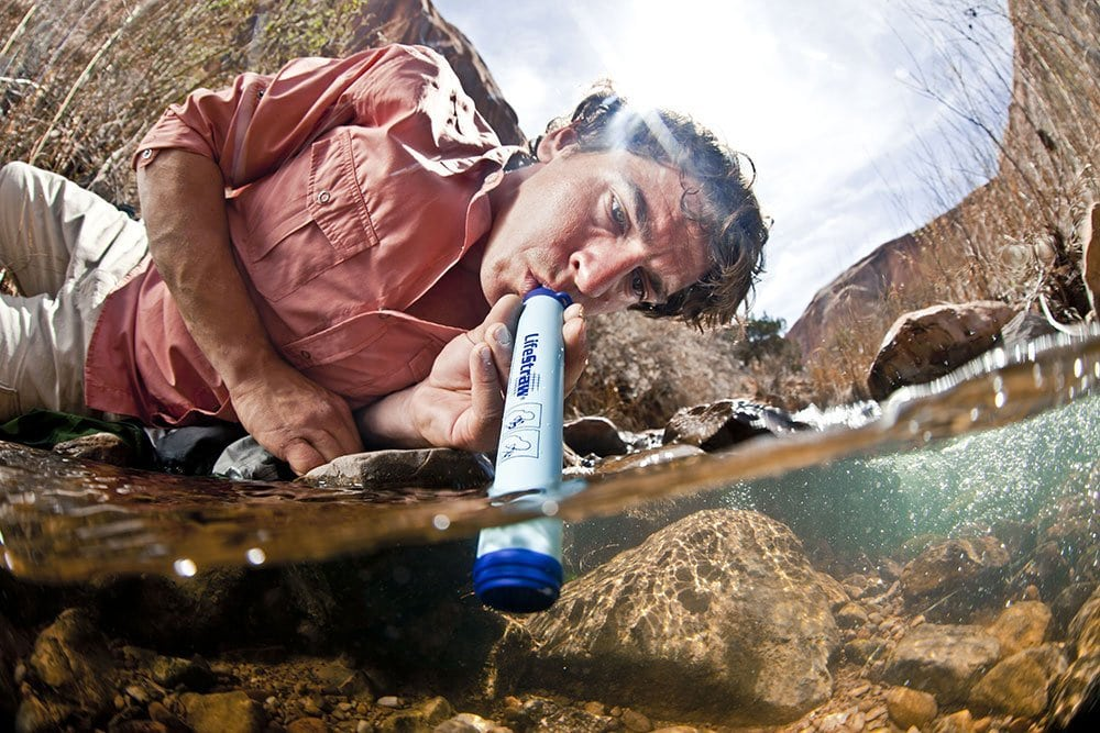 The LifeStraw is the best portable water filter without a bottle