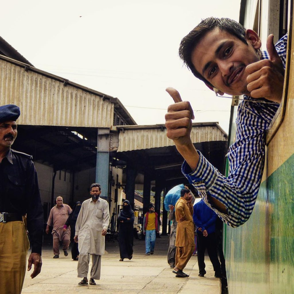 Travel to Pakistan with train