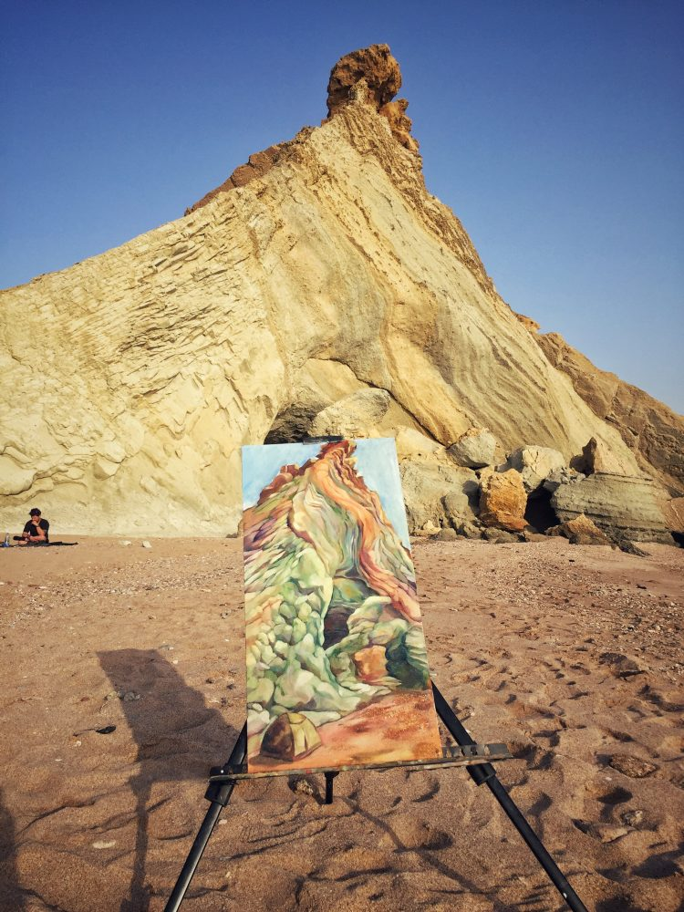 adventure to hormuz artist painted our campsite