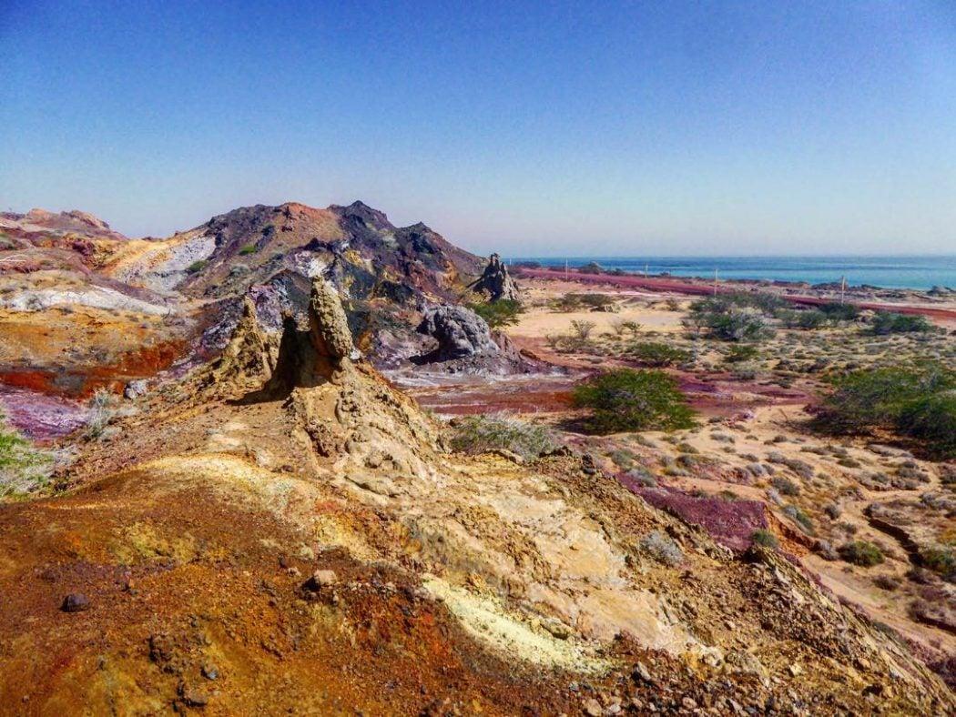 hormuz the rainbow island of Iran