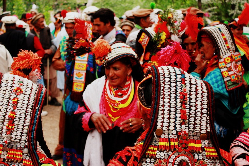 Old kalasha women, Pakistan