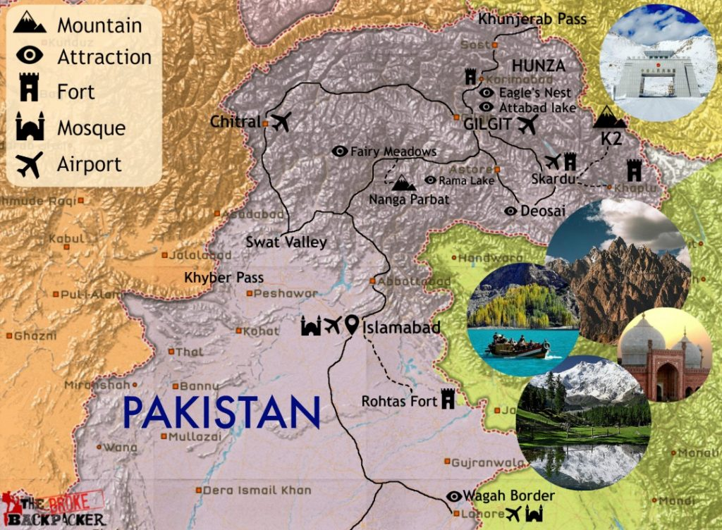 how to make map of pakistan