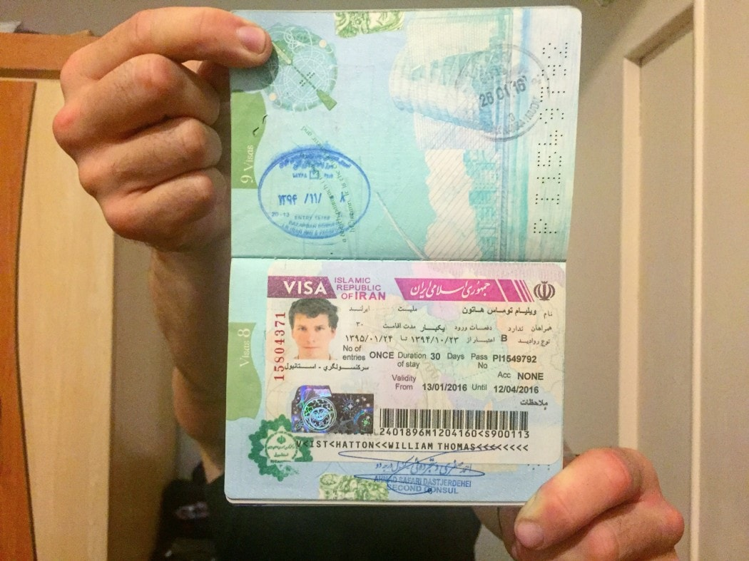 Backpacking Iran visa
