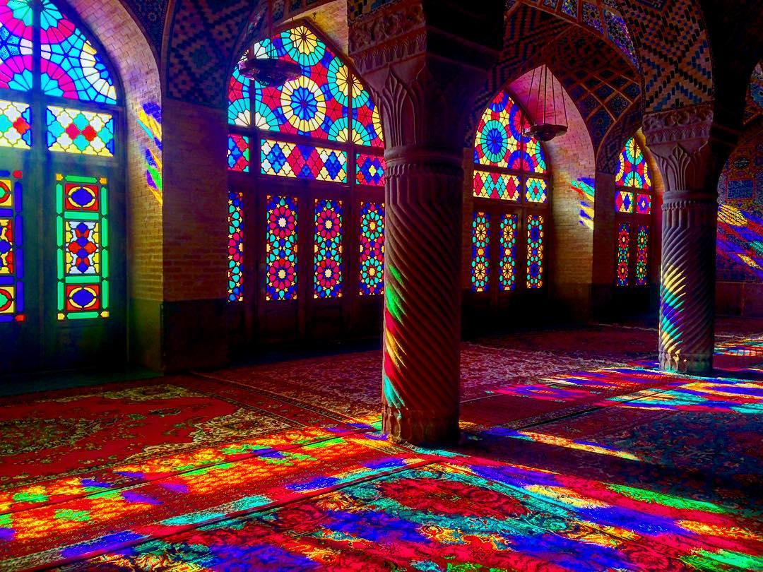 My absolute favorite place to visit in Iran - Nasir-al-Molk Mosque