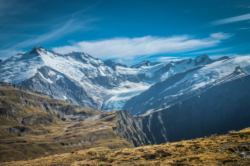 Tramping the Cascade Saddle hike in New Zealand