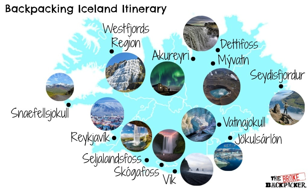 Iceland Backpacking route