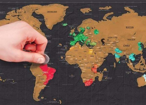 Gifts for backpackers scratch map