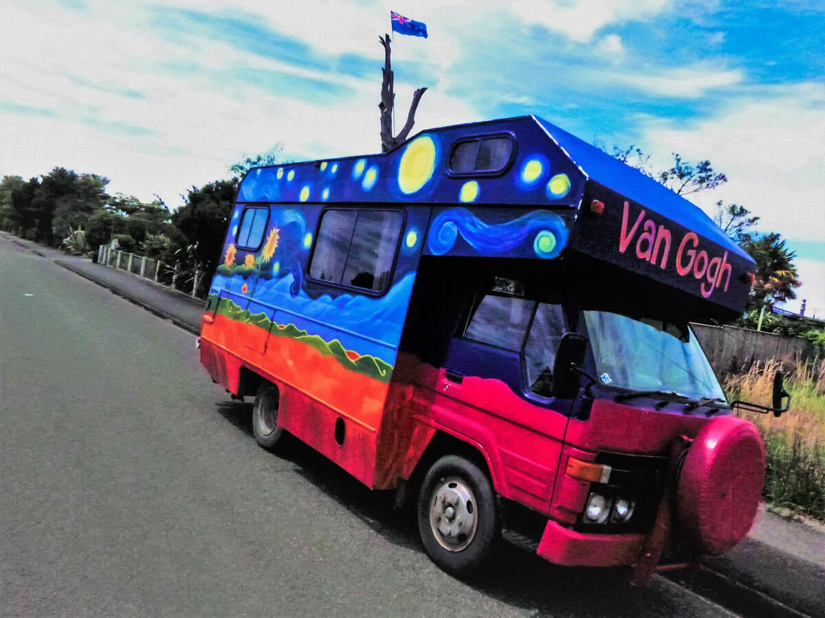 A van traveller's camper RV in Motueka, New Zealand