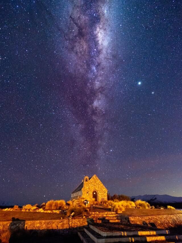 Church of the Good Sheperd, Lake Tekapo, under the Milky Way