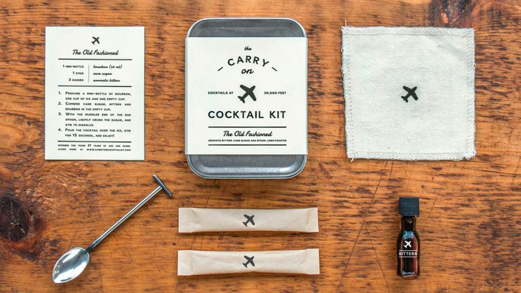 Cocktail kit for backpackers