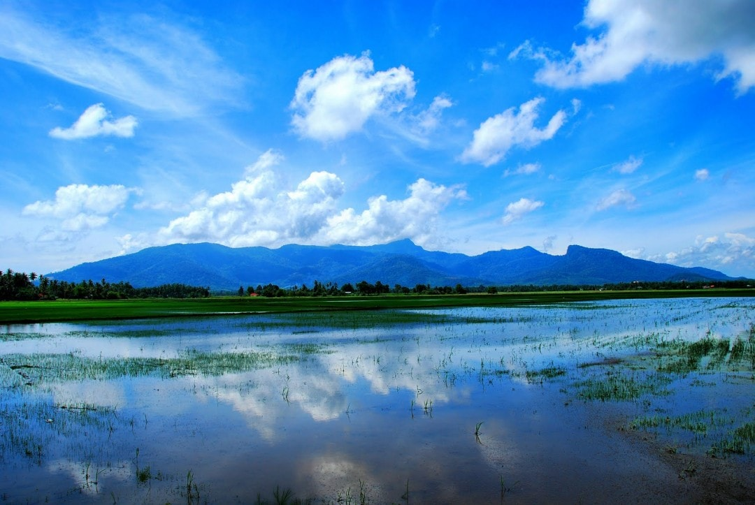 Mount Jerai (Gunung Jerai) in the Malaysian state of Kedah