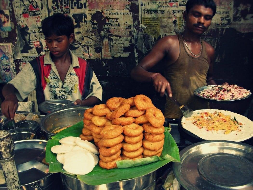 Street food in Nepal