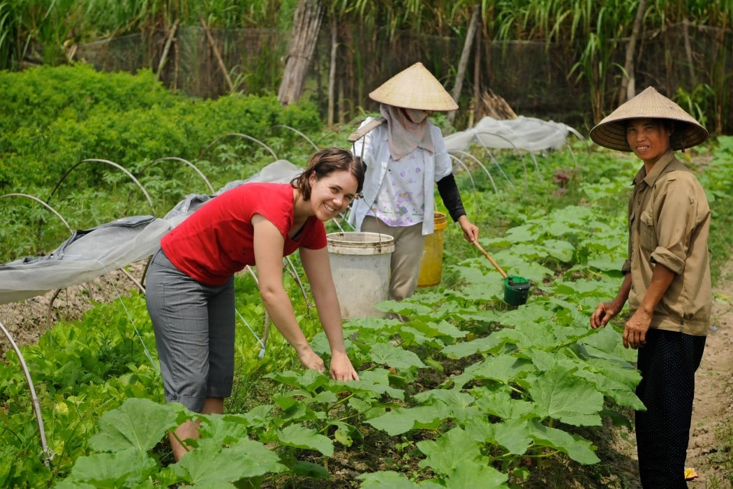 A working traveller volunteering in Vietnam