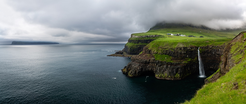 Faroe Islands- Gasadalur village panoramic beauty