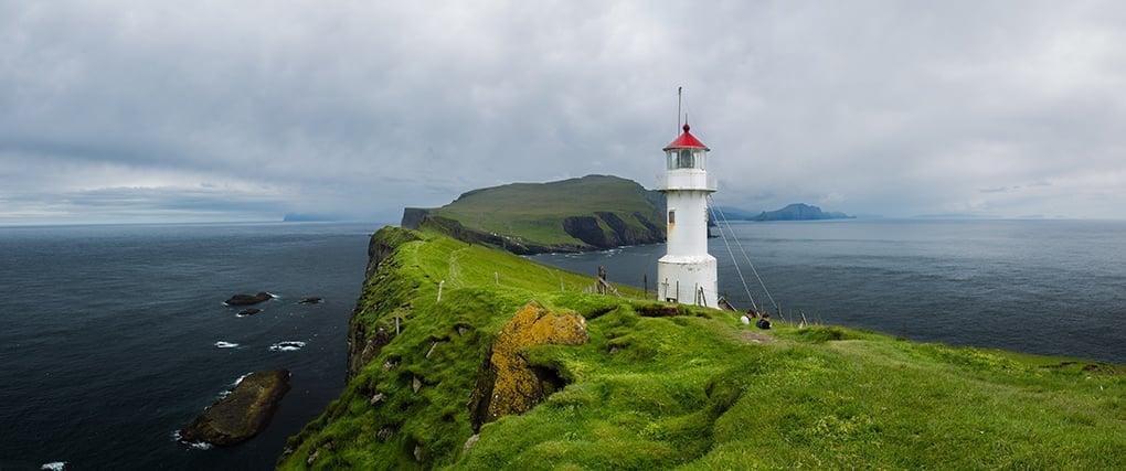 Faroe Islands lighthouse- Mykines Lighthouse panorama