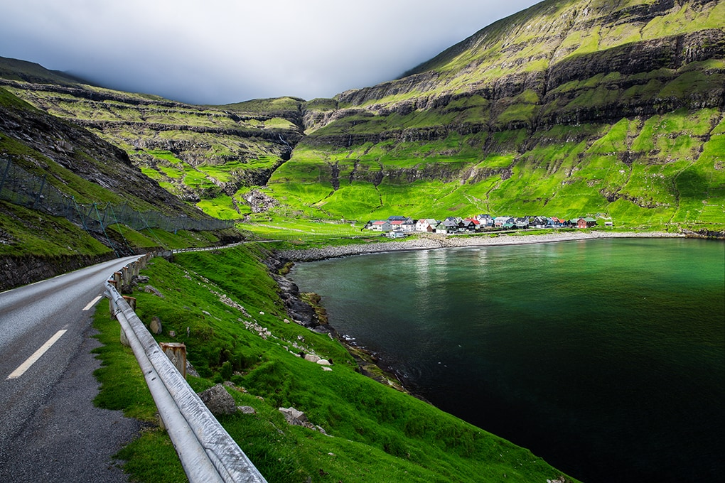 Faroe Islands- Tjornuvik beach and road