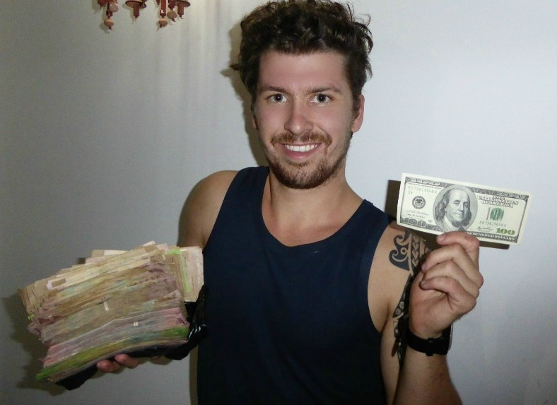 Traveling with fat stacks of money in Iran