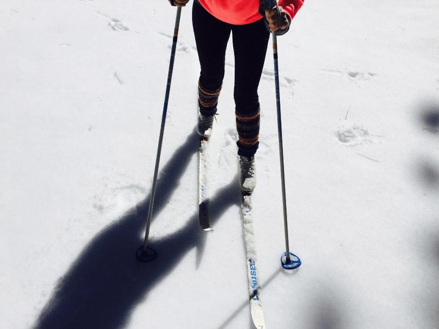 outdoor fitness-ski