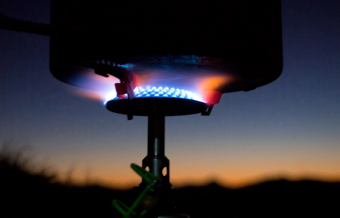 Cooking stove for backpackers