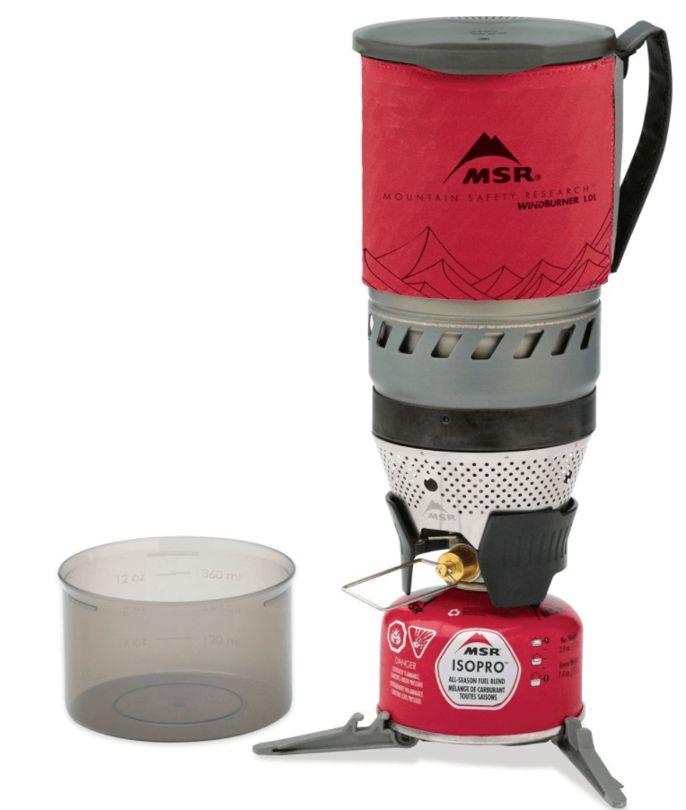the msr windburner - top choice of best backpacking stoves