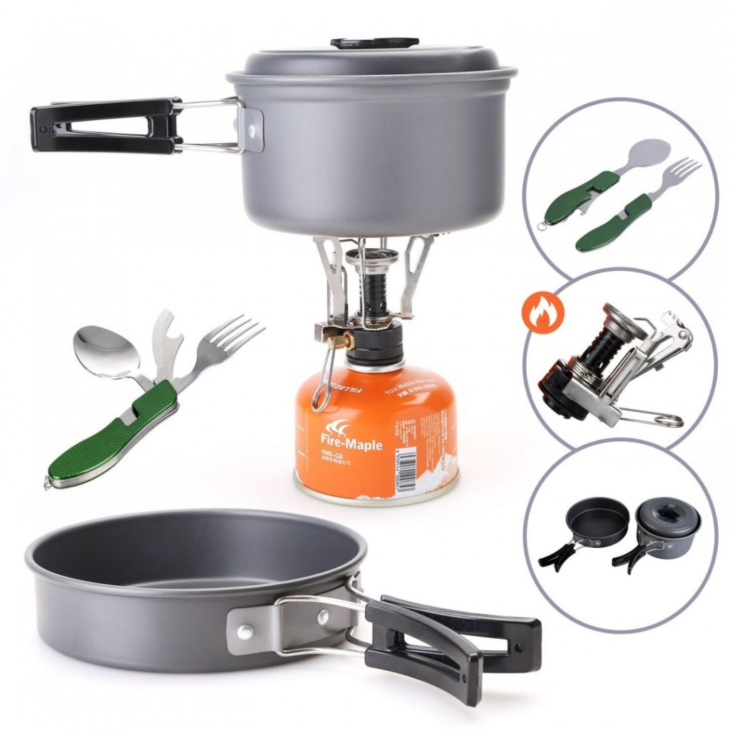 Cook up a storm at your campsite with this perfect cookware set
