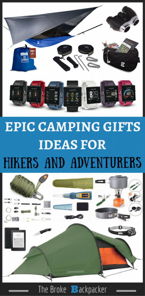 Gifts for hikers pinterest image