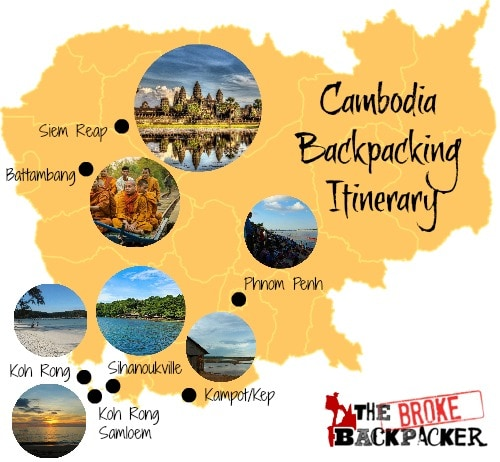 BACKPACKING CAMBODIA ITINERARY