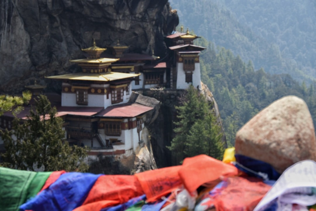 tiger's nest in Mountains of Bhutan