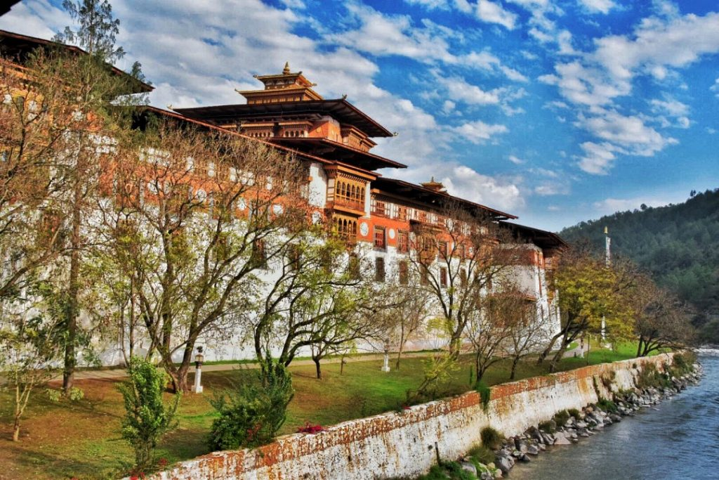 monastery in Mountains of Bhutan