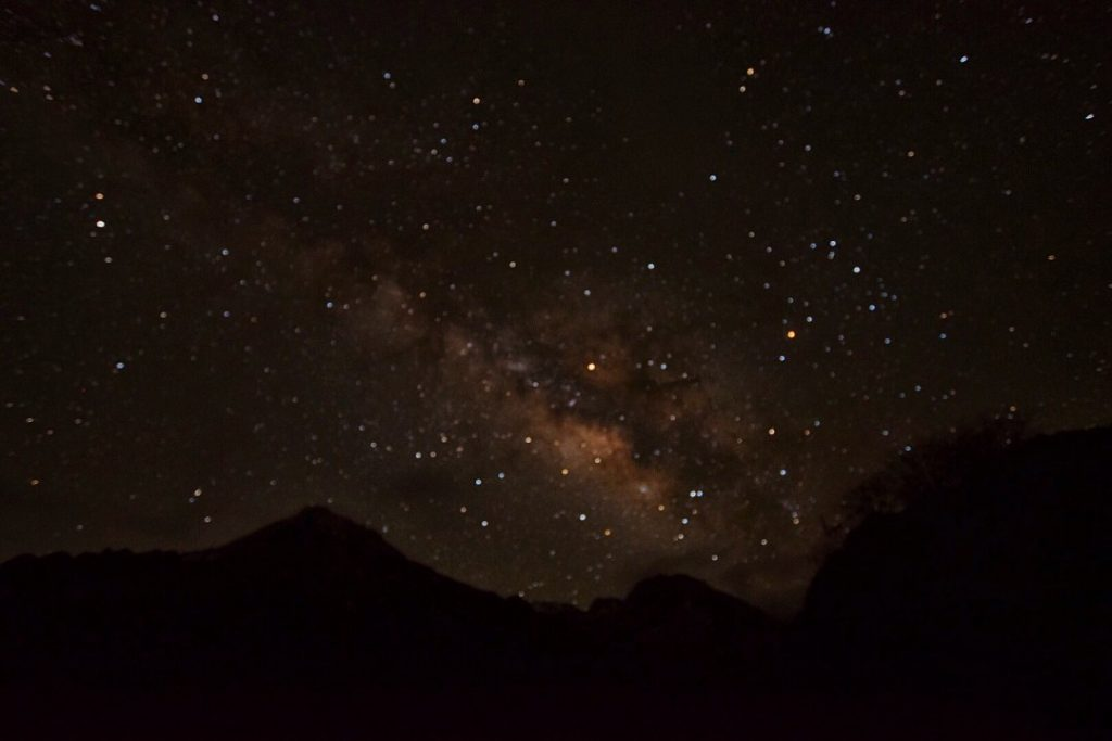 milky way in Mountains of Bhutan