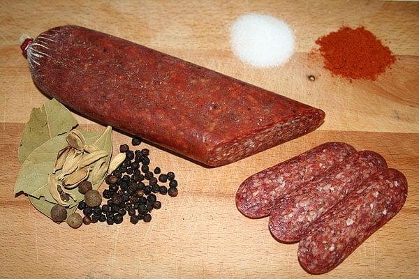 bulgarian foods starters salami
