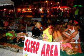 Sleeping at Parties on Koh Phangan
