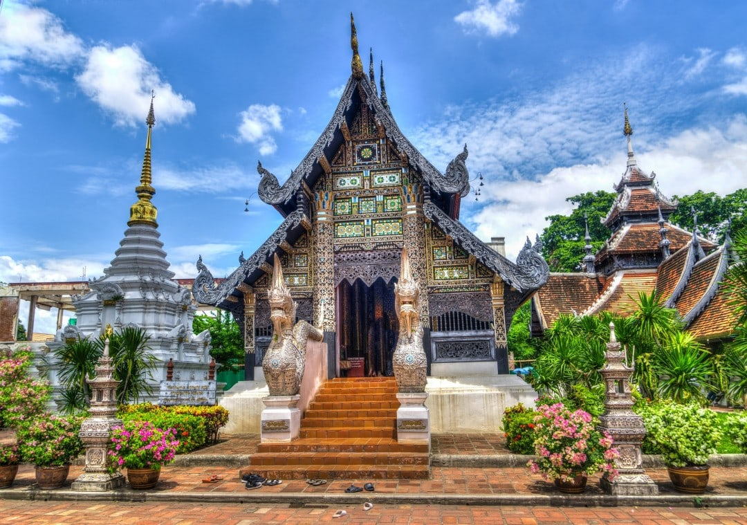 Architecture of Chiang Mai Temple Thailand