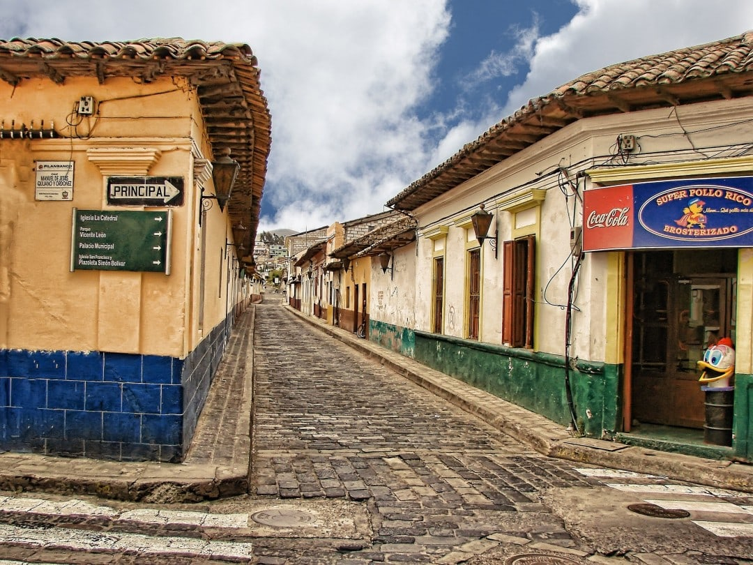Cobblestoned Guatemalan streets