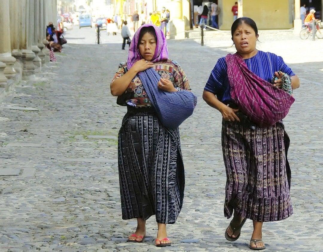 Guatemalan women on the street